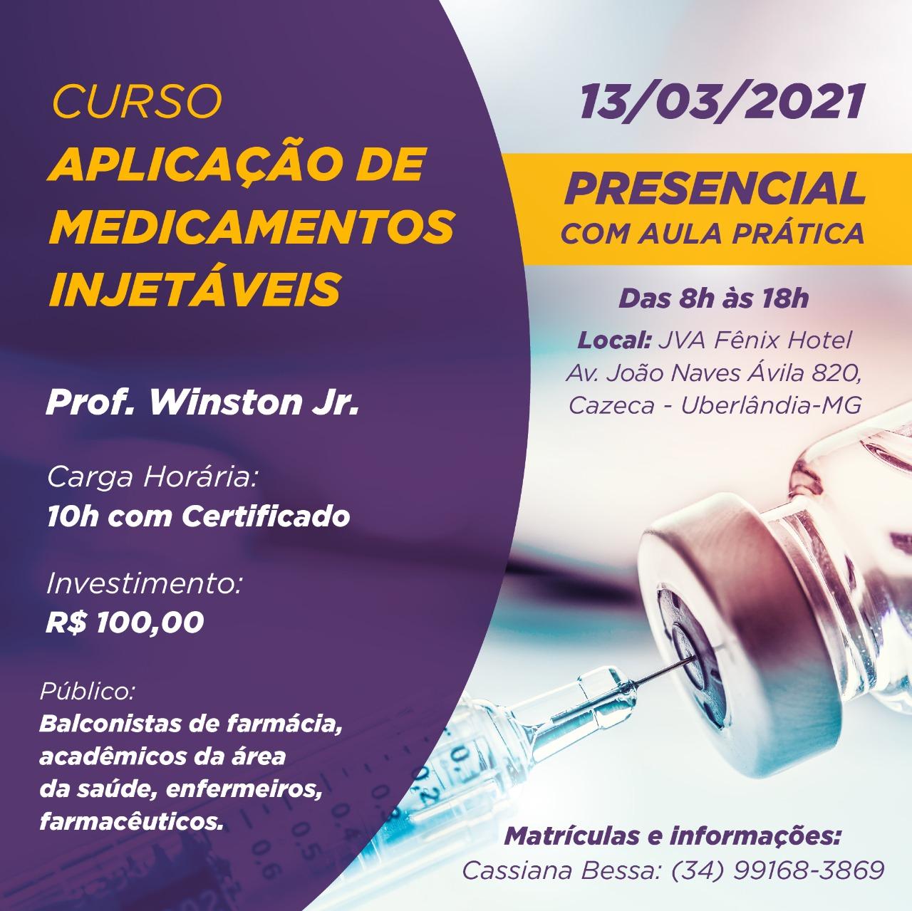 imagem projeto CURSO APLICAçãO DE MEDICAMENTOS INJETáVEIS